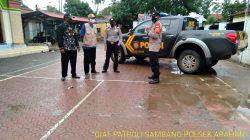 Anggota Polsek Arahan Patroli Sambang Bersama Warga Desa Setempat