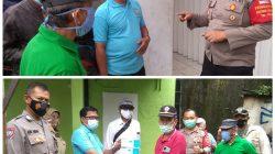 Polsek Kebayoran Lama Bersama PMI Lakukan Penyemprotan Disinfectan di Hunian Padat Penduduk