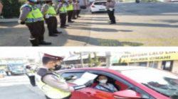 Polsek Padalarang Lakukan Penyekatan di Simpang Tol Padalarang