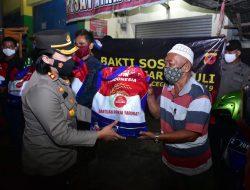 Kapolres Banjar Gelar Patroli Skala Besar Pembagian Bansos Serentak