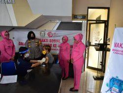 Polres Banjar bekerja sama dengan PKU Muhammadiyah dan Bhayangkari Gelar Vaksinasi