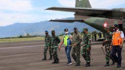 UJI COBA PENDARATAN PERDANA PESAWAT TNI AU DIBANDARA REMBELE KABUPATEN BENER MERIAH
