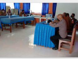 Kapolsek Banjarsari Hadiri Rapat Koordinasi di Gedung Sekolah SMPN I