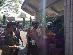 Sat Samapta Polres Bersama Satpol PP Ciamis Himbau Warga Patuhi Protokol Kesehatan di Terminal