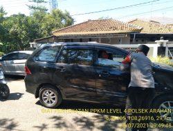 Kegiatan Penyekatan Di Jalan Desa Cidempet Anggota Polsek Arahan