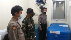 Anggota Polsek Terisi Giat Pengamanan Vaksin Di Gedung UPTD Puskesmas