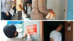 Polsek Metro Kebayoran Baru Tempel Sticker Pada Rumah Warga Yang Sedang Isolasi Mandiri