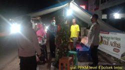 Anggota Polsek Terisi Giat Patroli Himbauan Prokes Dalam Rangka PPKM Level 3