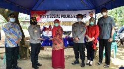 Kapolres Banjar Secara Rutin Menyalurkan Bansos, Kini Giliran PKL di Water Park