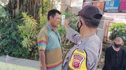 Anggota Polsek Lelea Giat Pemberlakuan PPKM Level 3, Di Desa Langgengsari
