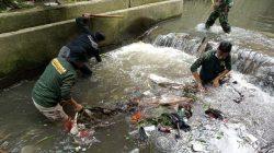 Aksi Pasukan Baraya Sektor 22 Citarum Harum Sub 8, Bersihkan Sampah Di Sungai
