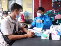 Program Vaksinasi Satu Hari Satu Juta Vaksin Covid-19, Polres Ciamis Kembali Gelar Vaksinasi Masal