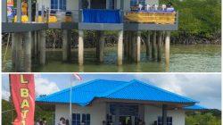 Komandan Lanal Batam Resmikan Pos Pengamat Pulau Panjang