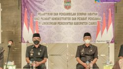 Lantik 88 Pejabat Administrator dan Pengawas, Bupati Ciamis Harapkan Dapat Memberi Pelayanan Terbaik di Masa Pandemi