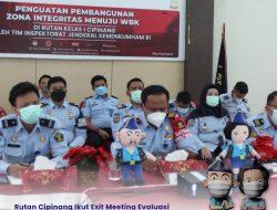 Rutan Cipinang Ikut Exit Meeting Evaluasi Pembangunan ZI Menuju WBK