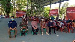 Kapolsek Cipeundeuy Fasilitasi Pelaksanaan Gebyar Vaksinasi Presisi Bhakti Bhayangkara