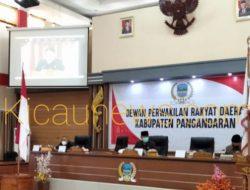 DPRD Pangandara Selenggarakan Rapat Sidang Paripurna Tentang Kesepatan Rancangan KUA Dan PPAS Berdasarkan RKPD