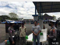 Sat Lantas Polres Ciamis Sosialisasikan Penerapan PPKM Level 2