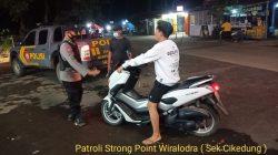 Giatkan Patroli Strong Point Wiralodra Antisipasi Kejahatan C-3 Anggota Polsek Cikedung