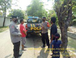 Anggota Polsek Arahan Giatkan Patroli Sambang Bersama Warga Desa Cidempet