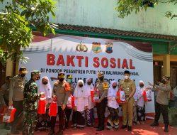 Kapolda Jateng Kunjungi Ponpes Aris Kaliwungu, Dalam Kegiatan Baksos dan Vaksinasi Alumni AKPOL 97