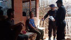 Himbauan Protokol Kesehatan Dan Bagikan Masker Kepada Masyarakat Cikancung Kabupaten Bandung