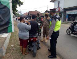 Giat Patroli Di Posko Terpadu PPKM Level 2 Pengetatan Prokes Anggota Polsek Terisi