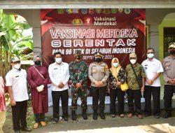 Kapolres Banjar Bersama Dandim 0613/Ciamis Tinjau Pelaksanaan Vaksinasi Merdeka Serentak di Pataruman