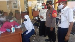Kapolsek Arahan Giat Vaksinasi TNI /POLRI PAM Dan Monitoring