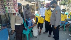 Anggota Polsek Terisi Giat Pengecekan Prokes Di Hajatan Warga Desa