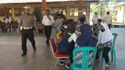 Anggota Polsek Terisi Giat Pengamanan Vaksinasi Ops Patuh Lodaya 2021