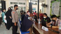 Anggota Polsek Terisi Giat Pam Dan Monitoring Vaksinasi Di Puskesmas