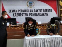 DPRD Pangandaran Dan Pemerintah Pangandaran Tandatangani Nota Kesepakatan Bersama