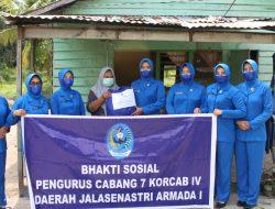 Warga Desa Sei Lumpur dan Tanjung Harapan Terharu Dengan Jalasenastri Cabang 7 Korcab IV DJA I