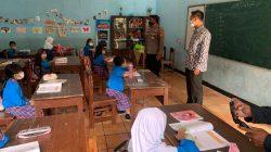 Jajaran Polres Ciamis Laksanakan Monitoring Penerapan Protokol Kesehatan dan Evaluasi PTM Terbatas di Sekolah