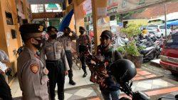 Dalam Rangka Penegakan Disiplin Penerapan PPKM Level 2 Polres Ciamis Gelar Operasi Yustisi di Pasar Manis