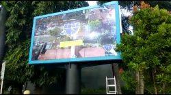 Sat Lantas Polres Ciamis Sosialisasikan Ops Patuh Lodaya di Kawasan Simpang Tiga Raflesia Lewat Reklame Digital Videotron