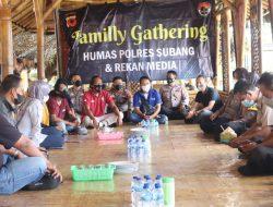 Pererat Tali Silaturahmi, Polres Subang Gelar Pers Gathering Bersama Awak Media IMM