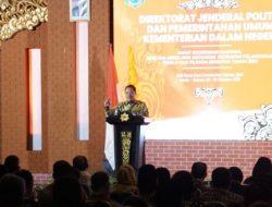 Rakornas Hadapi Pelaksanaan Pemilu Dan Pilkada Serentak Tahun 2024, Dirjen Polpum Dorong Awal Tahun 2023 NPHD Harus Diteken