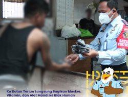 Komitmen Penuhi Kebutuhan Tahanan, Rutan Cipinang Bagikan Alat Mandi, Vitamin dan Masker