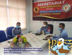 Rutan Cipinang Ikuti Seminar Nasional Dukung Indonesia Sehat dan Pemulihan Ekonomi Nasional