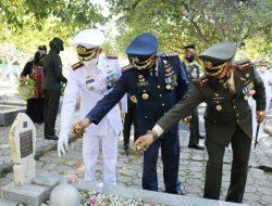 Danlanud SIM Hadiri Ziarah Nasional Dalam Rangka HUT TNI KE-76