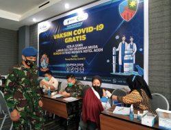 TIM Vaksinator Lanud SIM Laksanakan Vaksinasi Tahap 1 Dan 2 Di Hotel Kyriad Muraya Aceh