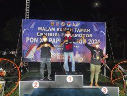 Tim Paramotor Fasida Aceh Binaan Lanud SIM Rebut Emas Di Pon Papua