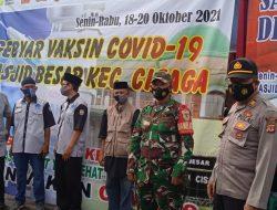 Kapolsek Cisaga Bersama Danramil Monitoring dan Pengamanan Pelaksanaan Maulid Nabi Muhamad 1443 H Tingkat Kecamatan