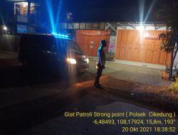 Giatkan Anggota Polsek Cikedung Polres Indramayu, Patroli Strong Point Wiralodra Antisipasi C-3