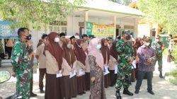 Satgas Covid-19 Lanud SIM Laksanakan Vaksinasi Di Smpn 3 Ingin Jaya Kab. Aceh Besar