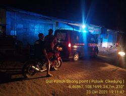 Giat Patroli Strong Point Wiralodra Tekan Angka Kejahatan Anggota Polsek Cikedung Polres Indramayu
