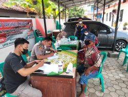 Anggota Polsek Lelea Polres Indramayu Polda Jabar, Giat PAM Dan Monitoring Vaksinasi Presisi