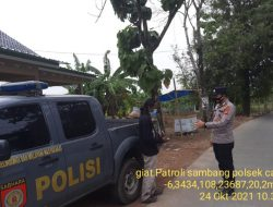 Anggota Polsek Cantigi Giat Patroli Sambang Bersama Warga Desa Panyingkiran Lor